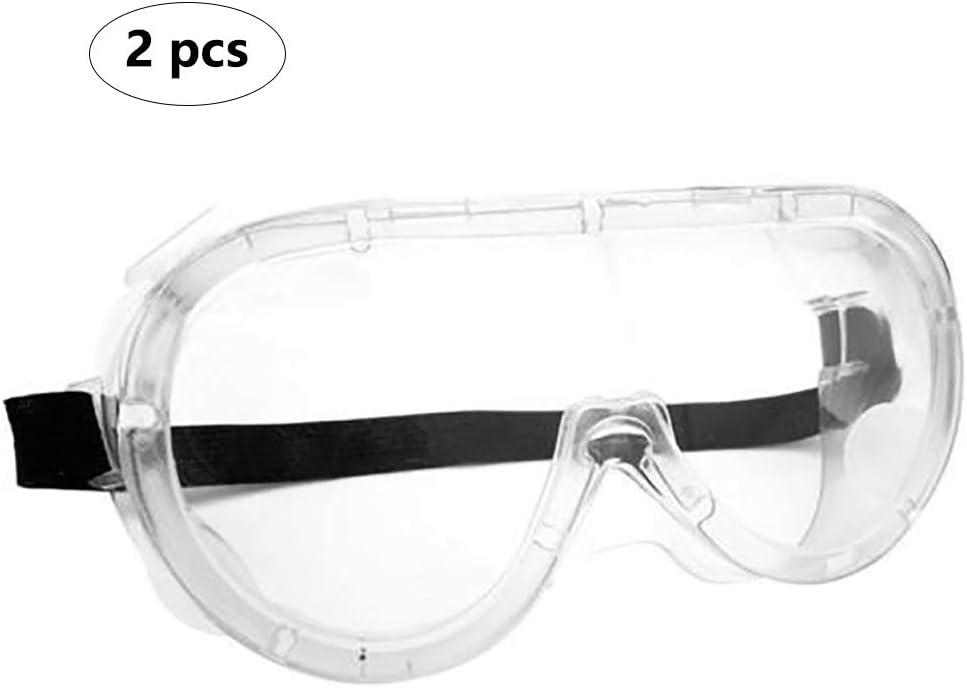 Gafas De Protección, Gafas De Seguridad Al Aire Libre De Alta Definición A Prueba De Salpicaduras, Gafas De Infección Estornudo Anti-Saliva Adecuados para El Hombre Y La Mujer (2 Piezas)