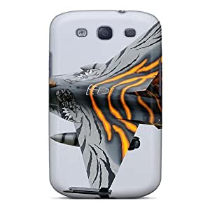Flexible Tpu Back Case Cover For Galaxy S3 - F 16 Falcon As A Tiger