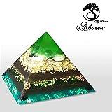 Jade Large Orgone Pyramid, 22kt Gold Reiki charged, ArboreaCrystals Design Orgonite Pyramids,