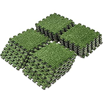 Sorbus grass mat interlocking floor tiles for Grass carpet tiles