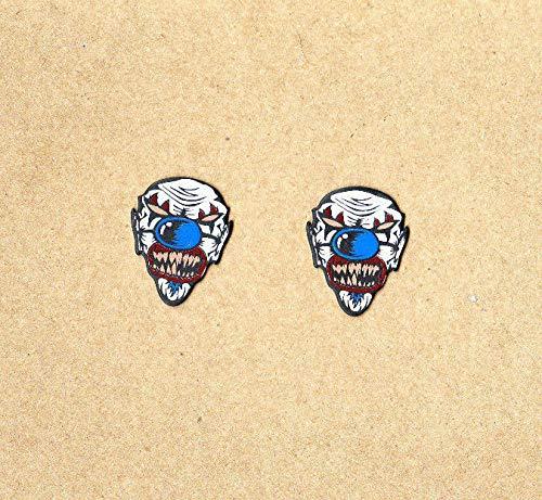 - 1 Set Of 2-Clown Face Head Shaped-Guitar Picks-Medium Gauge-Brand New