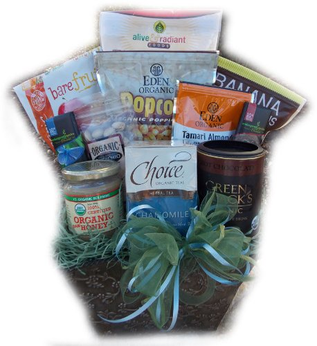 Organic Healthy Holiday Basket by Well Baskets