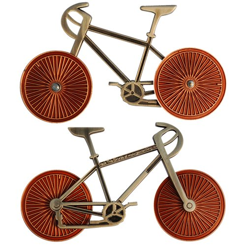(Bicycle - Two Tone Antique Nickel Bike Antique Copper Wheels)