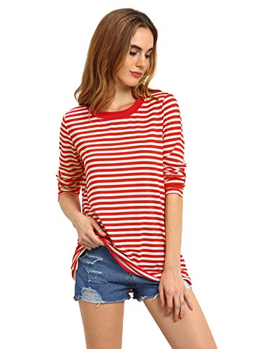 red and white striped shirt - 2