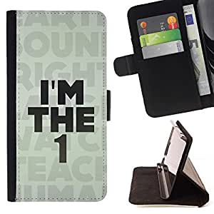 For LG G2 D800 I'm The 1 One Message Beautiful Print Wallet Leather Case Cover With Credit Card Slots And Stand Function