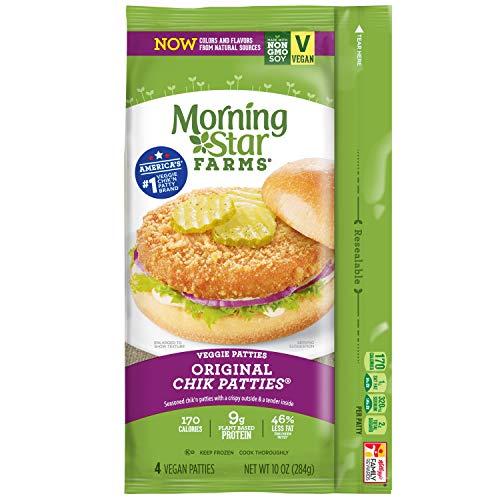 - Morningstar Farms, Veggie Burgers, Original Chik Patties, Vegetarian, 10 oz (4 Count)