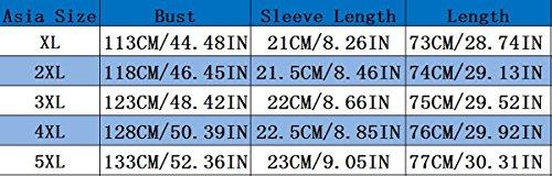 Camicie Eleganti Shirt Manica Corta T Chiffon Bluse Estive Magliette Maglie V 5XL Sciolto Collare Tuniche Tunica Grande Donna Top XL Casual Camicetta Camicette Tshirt Blusa Taglie Giallo Forti Taglia Estate R0x6Adq