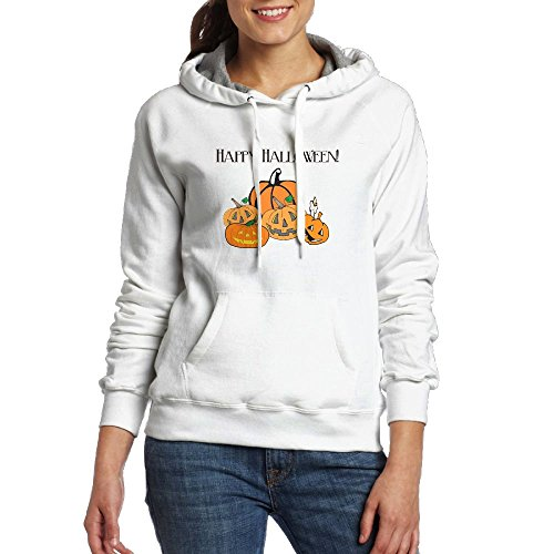 NVLILO Womens Happy Halloween - Funny Pumpkin Face Cool Cotton Hoodie Pullover Hooded Sweatshirt]()