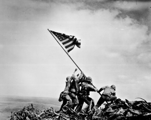 (New 8x10 Photo: Raising the Flag on Iwo Jima)