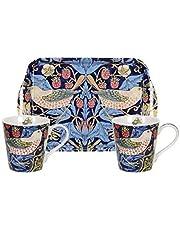 Morris & Co voor Pimpernel aardbei dief blauwe mok & lade set