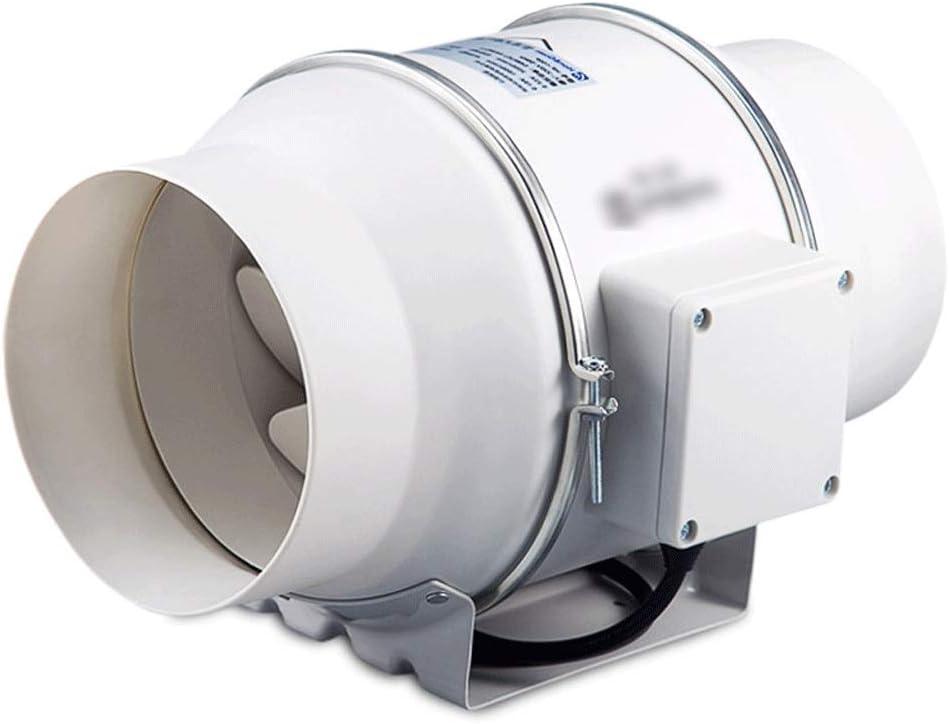 QIQIDEDIAN Ventilador de tubería 150 Extractor de Humo Extractor de ventilación Ventilador de ventilación baño silenciado Ventilador de ventilación de 6 Pulgadas