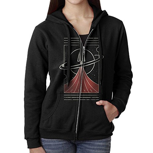 SHIRT-4 Space Race Casual Womens Hooded Sweater Pocket (Pocket Rocket Races)
