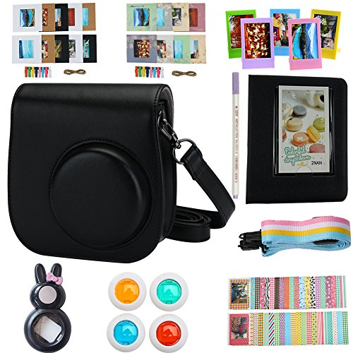 Alohallo Mini 8 Instant Camera Accessories for FujiFilm Instax Mini 8 Camera with Camera Case/ Close-Up Lens / Mini Album/ Color Frame/ Sticker Borders/ Strap/ Pens/ Filter (Film Halloween)