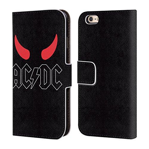 Officiel AC/DC ACDC Klaxons Logo Étui Coque De Livre En Cuir Pour Apple iPhone 6 / 6s