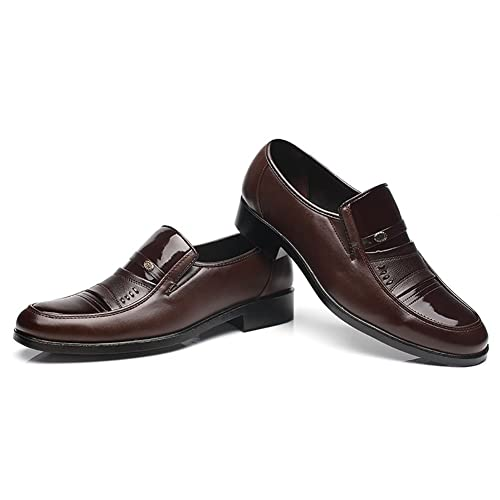 2018 Zapatos de Cuero para Hombres Trabajo Formal de Negocios Mocasines Cómodos Zapatos Casuales de Primavera y Otoño Zapatos de Moda Masculina Zapatos de ...