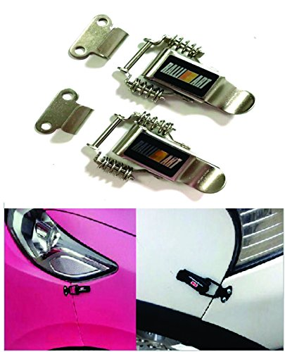 2Pcs Ralliart Quick Release Buckle Fasteners Bumpers Car Trunk & Hatch Lip For All Vehicles