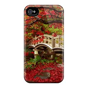New Style Case Cover PCmGygq2011BvkTl Japan Garden In Fall Compatible With Iphone 4/4s Protection Case