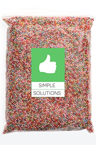 Rainbow Foam (Styrofoam Craft Foam Balls - 40,000pc Pack (5.5 Cups) - 0.08-0.16 Inch (2-4mm) Polystyrene Beads - Perfect for DIY Slime, Kid's Craft, Wedding and Party Decorations - Assorted Colors Available)