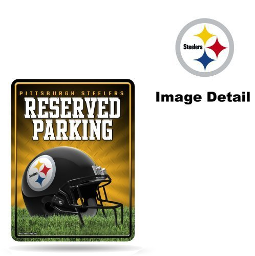 Pittsburgh Steelers Parking Sign - Pittsburgh Steelers NFL Team Logo Home Office Garage Wall Metal Parking Sign - RESERVED PARKING by LA Auto Gear