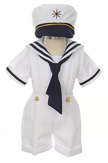 2e048c93a iGirldress Baby Toddler Boys Nautical Sailor Outfit Short Suit 4 Piece Set