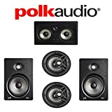 Polk Audio V85 Vanishing Series 5.0 In-Wall / In-Ceiling Home Theater System (V85 + V80 + 255C-RT)