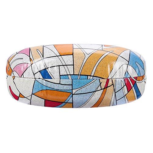 Molshine Hard Shell Sunglasses Case,Classic Extra Large Case for Oversized Sunglasses and Eyeglasses (geometric - Geometric Case Glasses