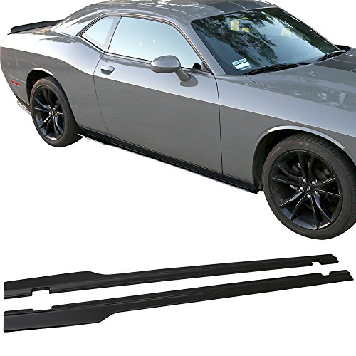 Side Skirts Fits 2015-2019 Dodge Challenger | SXT Style Black PP Left Hand Right Hand Driver Side Passenger Side by IKON MOTORSPORTS | 2016 2017 2018