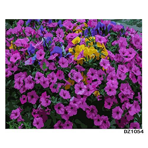 LovetheFamily 数字油絵 数字キット塗り絵 手塗り DIY絵 デジタル油絵 ホーム オフィス装飾 40x50cm 繁栄の花の商品画像