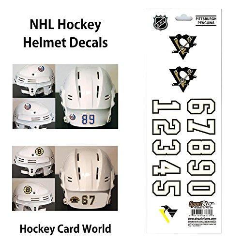 Stickers Helmet Hockey - (HCW) Pittsburgh Penguins SportsStar NHL Hockey Helmet Decals Sticker Sheet