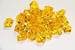 2 Pounds of Yellow Acrylic Ice Rock Vase Gems or Table Scatters