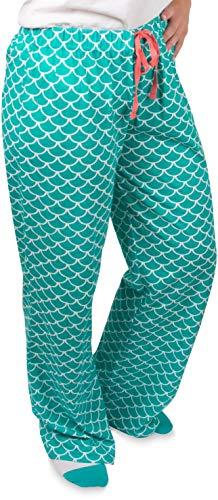 Izzy & Owie - Mermaid - Patterned Adult Lounge Pajama Pants - Unisex Small -