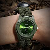 6-in-1 Paracord Survival Watch, Unisex Bracelet Watch with...