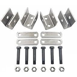 Single Axle Spring Hanger Kit - Fits 1.75\