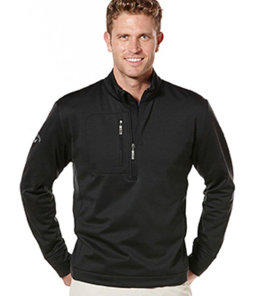 Callaway Unisex Golf Tundra Quarter-Zip Stretch Pullover Black Large X-Large SWEATER メンズ Large  B07BMCMJ3D