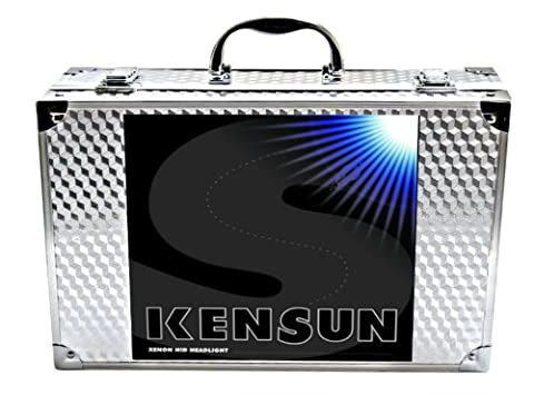 HID Xenon Headlight Conversion Kit by Kensun, 9007 Low-Beam Xenon/High-Beam Halogen, 6000K - 2 Year (Hid Saturn Ion)