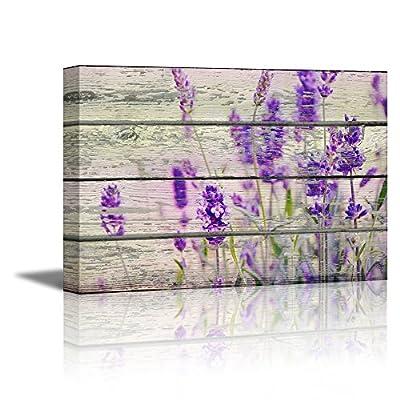 Retro Style Purple Flowers on Vintage Wood Background Rustic 16