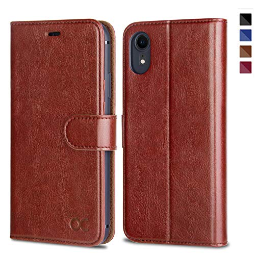 OCASE iPhone XR Case [TPU Shockproof Interior Protective Case] [Card Slot] [Kickstand] Leather Wallet Flip Case for iPhone XR Devices 6.1 Inch - -