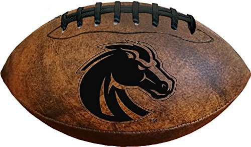 Boise State Football Gear (NCAA Boise State Broncos Vintage Throwback Football, Size 9, Brown)