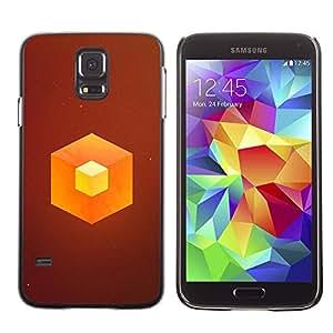 // PHONE CASE GIFT // Duro Estuche protector PC Cáscara Plástico Carcasa Funda Hard Protective Case for Samsung Galaxy S5 / Naranja Cube /