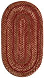Cheap Capel Rugs Manchester Oval Braided Area Rug, 2 x 4, Redwood