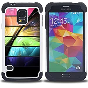 For Samsung Galaxy S5 I9600 G9009 G9008V - space color vibrant futuristic Dual Layer caso de Shell HUELGA Impacto pata de cabra con im??genes gr??ficas Steam - Funny Shop -