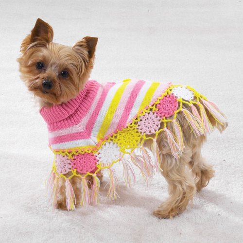SMALL – Crocheted Doggy Shawl, My Pet Supplies