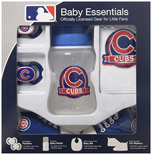 Cubs Onesie Chicago (Baby Fanatic 5 Piece Gift Set, Chicago Cubs)