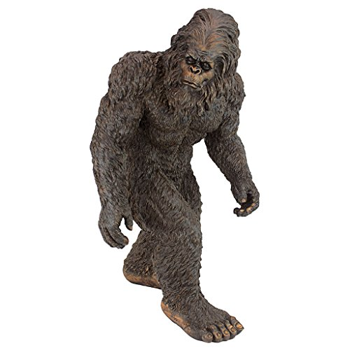 Design Toscano Yeti the Bigfoot Garden Statue, Medium 21 Inch, Polyresin, Full Color ()