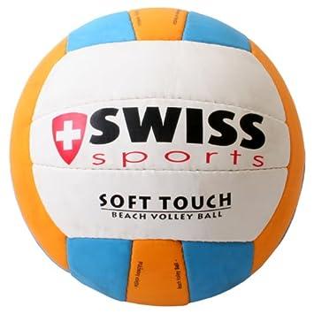 Swiss Sports - Balón de voley playa (textura suave): Amazon.es ...