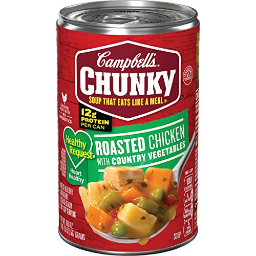 Campbell's Chunky Healthy Request Soup, Roasted Chicken with Country Vegetables, 18.6 Ounce (Packaging May Vary) Chunky Chicken Soup