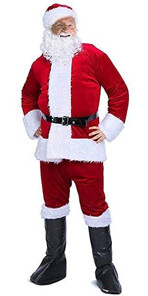 Amazon.com: Santa Claus Traje de Navidad para adulto disfraz ...