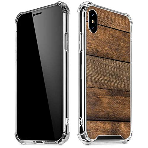 Skinit Early American Wood Planks iPhone XR Clear Case - Skinit Studios Originally Designed Phone Case - Transparent iPhone XR Cover ()
