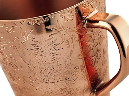 Elyx Boutique Copper Mule Cups Gift Set (set of 2) | Attach Heritage and Tradition to Your Classic Cocktail | Perfect Gift by Elyx Boutique (Image #4)