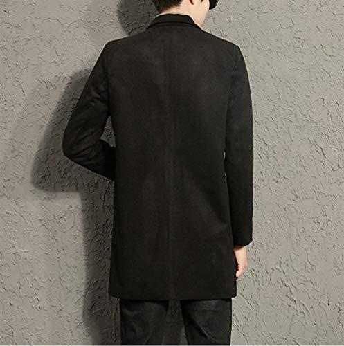 De Chicos Moda Hombres Collar Los Cierre Front Coat Regular Size 2XL Hombres Cremallera 1 Hombres Clásico Stand Los De Fit Hombres Schwarz Largo De De Los Ntel Leisure Los Color SUdq0U